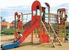 Wooden playground equipm