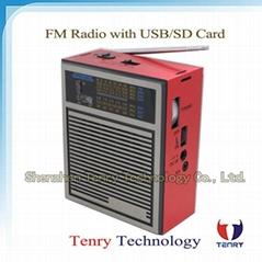 FM/MW/Sw Radio with MP3 USB Card Good Quality Portable Radio Digital Radio FM Ra