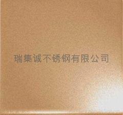 佛山古銅色噴砂不鏽鋼板
