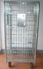 Dismantle wire mesh logistics cart