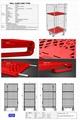 封閉型籠車 高密度塑料底板造 2