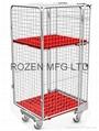 封閉型籠車 高密度塑料底板造 1