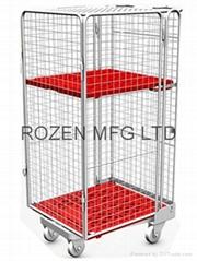 封閉型籠車 高密度塑料底板造