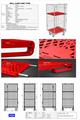 封閉型籠車 高密度塑料底板造 3