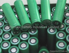 Li-ion 18650 Cylindrical Rechargeable Cell: 3.7V 2600mAh