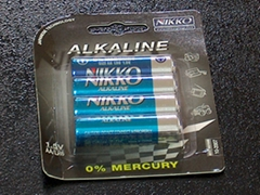 Excell alkaline batteries