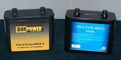 Blockbatterie, Typ 4R25 Batterie, Lampenbatterie: 4HR25, 4R25-2, 4R25/2