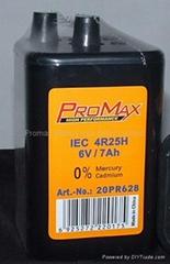 PJ996 4R25 6V Lantern Batteries, Weatherproof