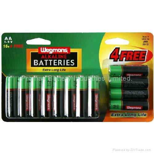 High Energy Economical Alkaline Supercell Batteries