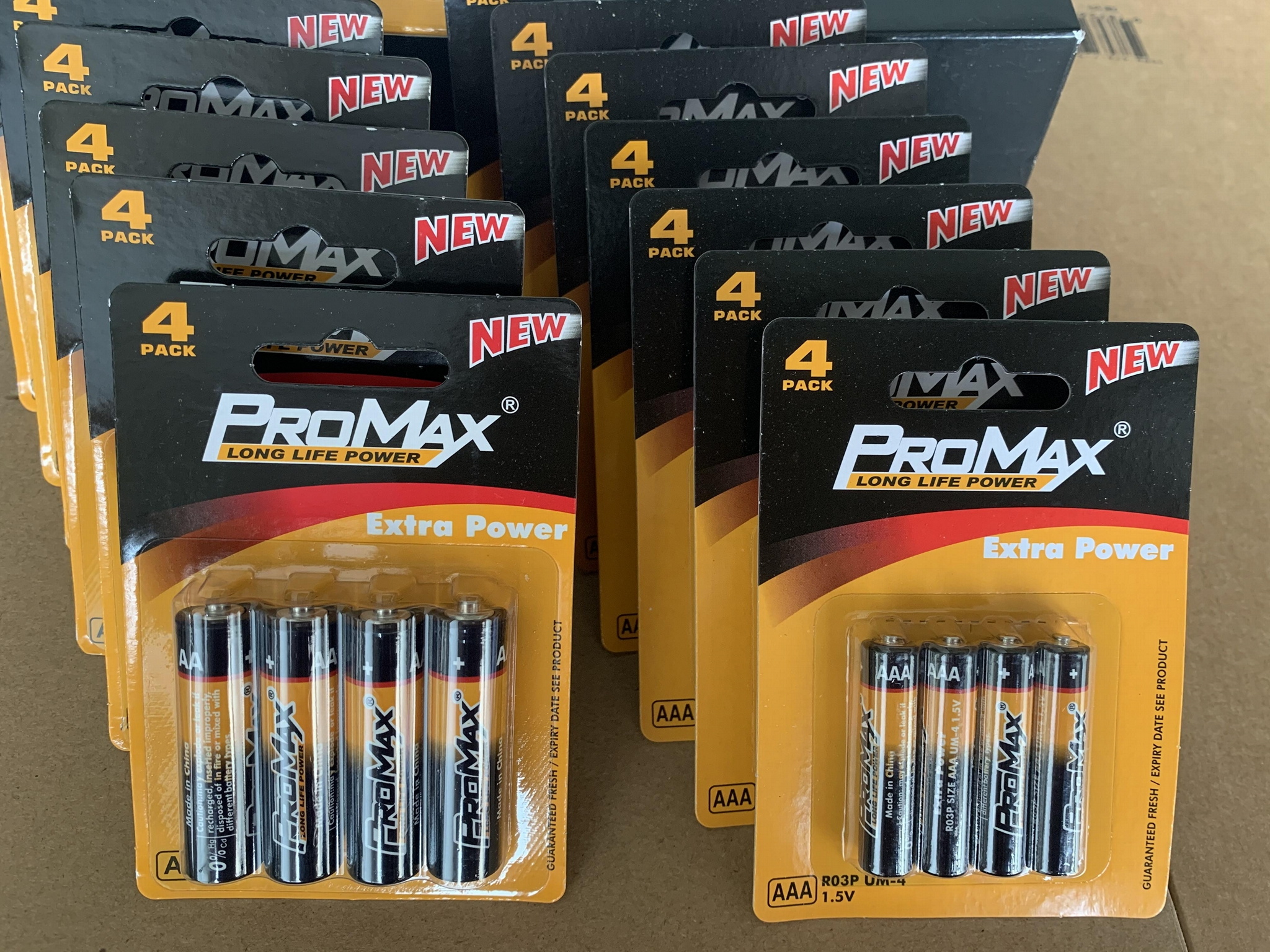 ProMax Super Heavy Duty Power Batteries 4-Pack