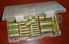 Battery Storage Box for Alkaline Batteries