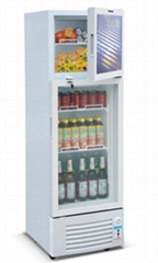 300liter Upright Electric Refrigerator Display Showcase Static Cooling