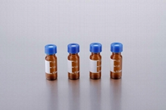 Sample vials for lab autosamplers