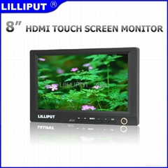 """LILLIPUT 8"""" LCD Touch Monitor with DVI & HDMI Input  869GL-80NP/C/T"""