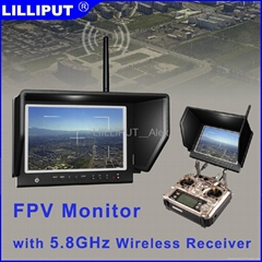 "7"" FPV monitor Application for Aerial & Outdoor Photography.664/W"