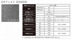 东丽K10250D GS毛毡 TORAY K10250D