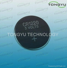Watch CR1220 Lithium Coin Cell Battery , 3v 40mah Button Lithium Cell Battery