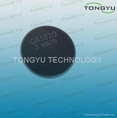 CR1620 Lithium Coin Cell Battery , Small Li-MnO2 3v Button Cell Battery