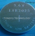 30mAh 3.6V Lithium Coin Cell Battery