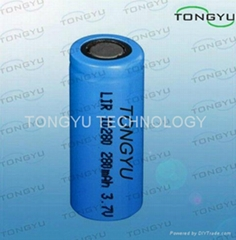 3.7V 280mAh Lithium Ion Rechargeable Battery For Garden Lighting&Portable Device
