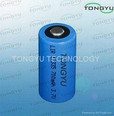 Cylindrical Lithium Ion Rechargeable Batteries 3.7V 700mAh For Tracking System