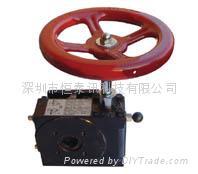 离合式气动阀门减速器气动手轮机构