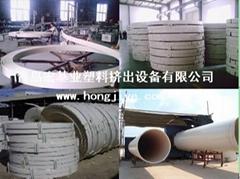 PVC大口徑嵌接式纏繞管生產線