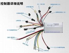 電動車控制器24V250W  36V350W  48V350W  48V450W  48V450W  60V500W