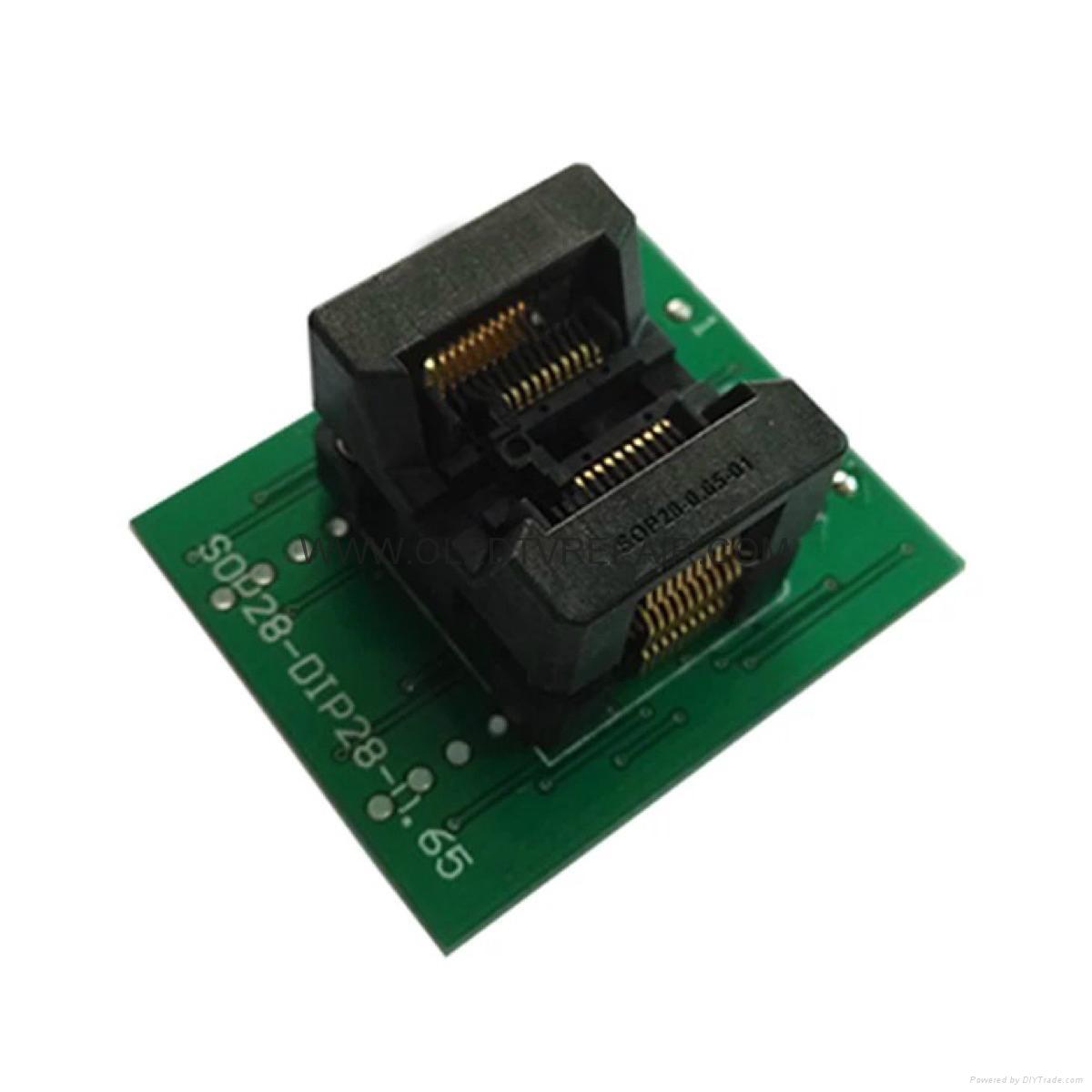 汽車芯片測試座PLCC28 PLCC44 SOP TSOP  QFP44 BGA  7