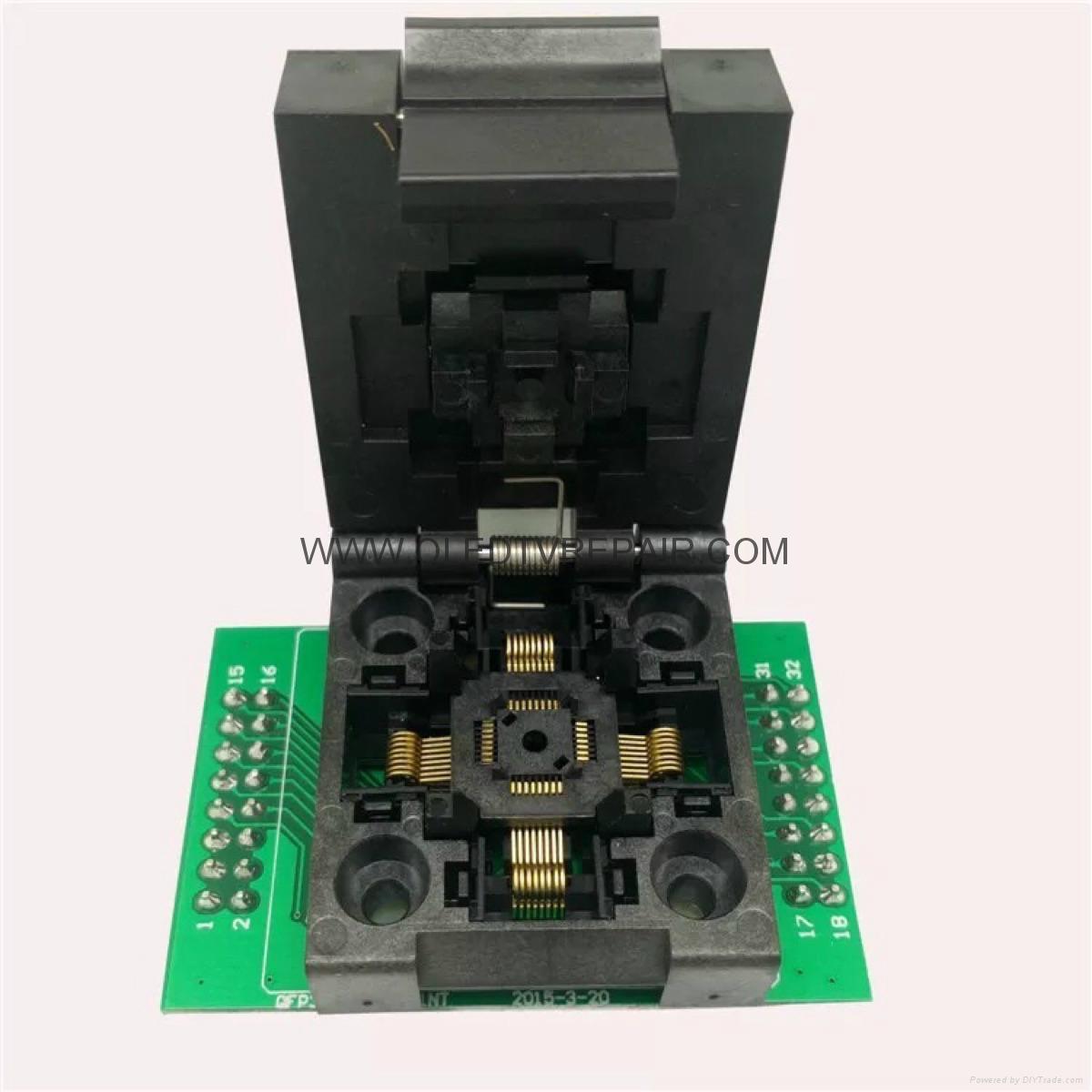 汽車芯片測試座PLCC28 PLCC44 SOP TSOP  QFP44 BGA  11