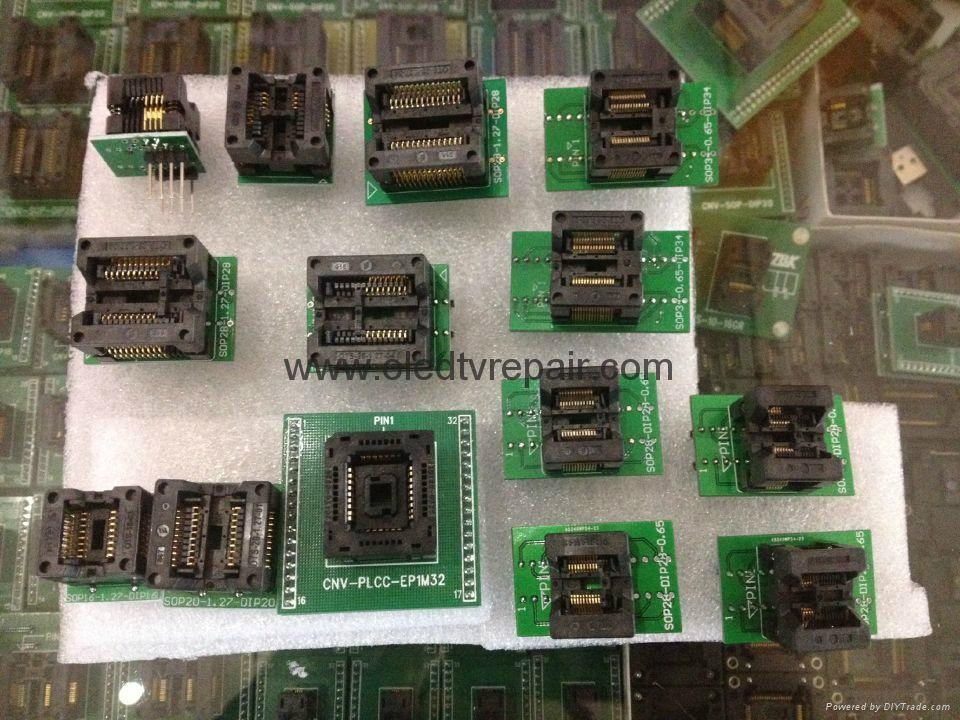 汽车芯片测试座PLCC28 PLCC44 SOP TSOP  QFP44 BGA  4
