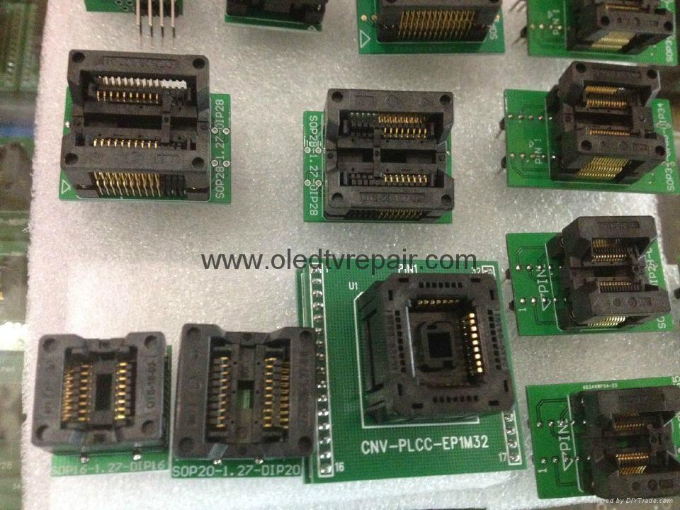 汽车芯片测试座PLCC28 PLCC44 SOP TSOP  QFP44 BGA  3