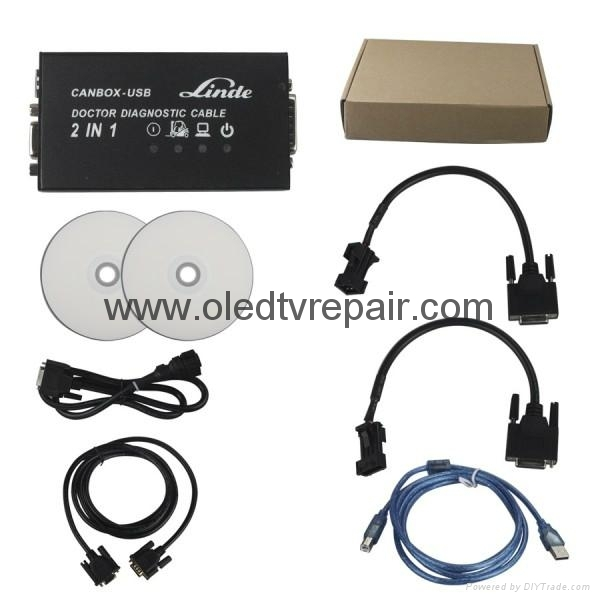 Linde Canbox and Doctor diagnostic cable 2 in 1 2014 Version