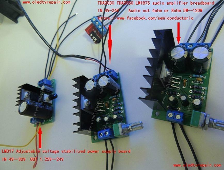 TDA2030 TDA2050 LM1875 AUDIO