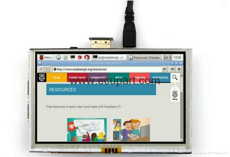 5 inch LCD TFT 800*480  HDMI LCD
