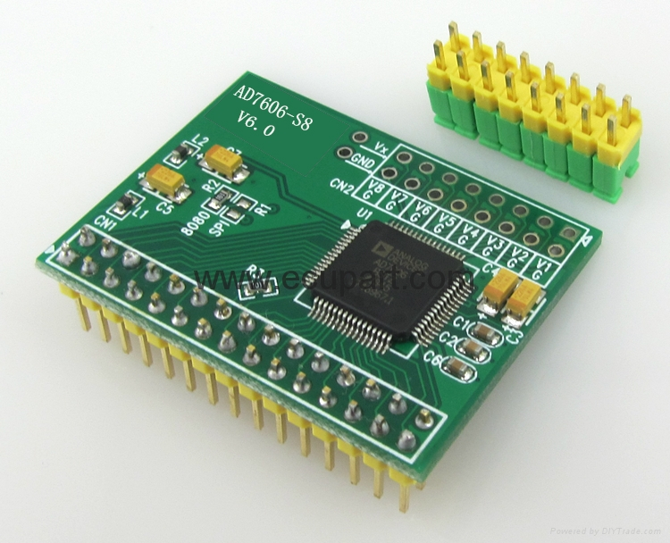 AD7606 data acquisition module 16 bit ADC 8 synchronous sampling frequency 200KHz