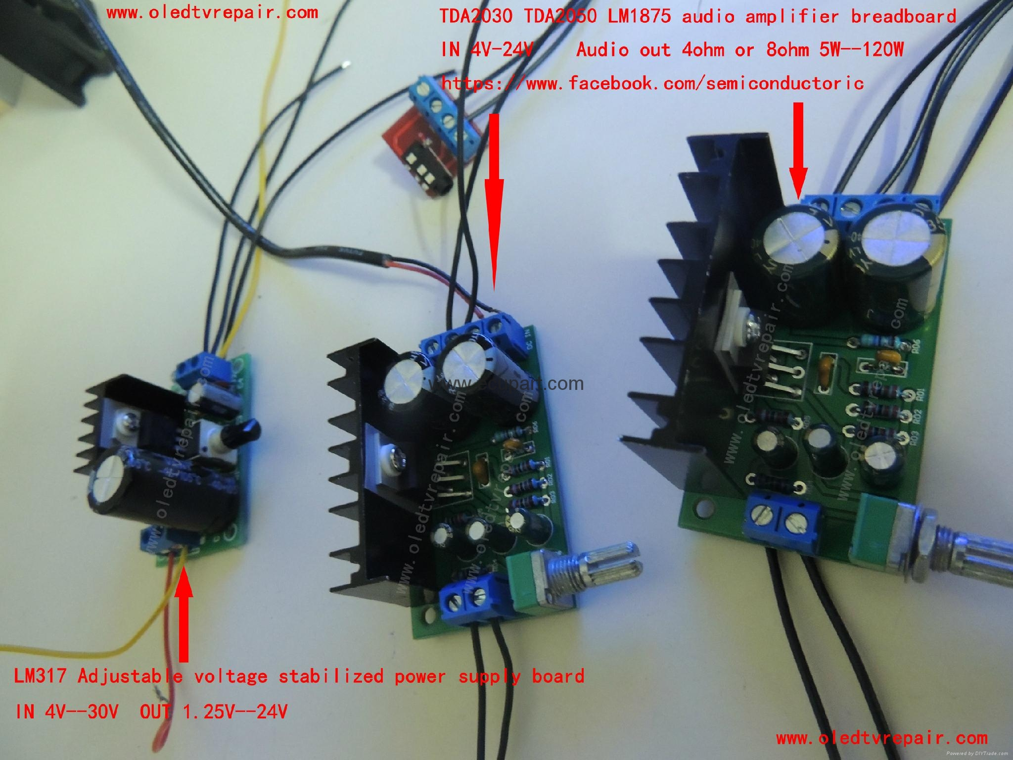 LM317 Adjustable voltage stabilized power supply board 2