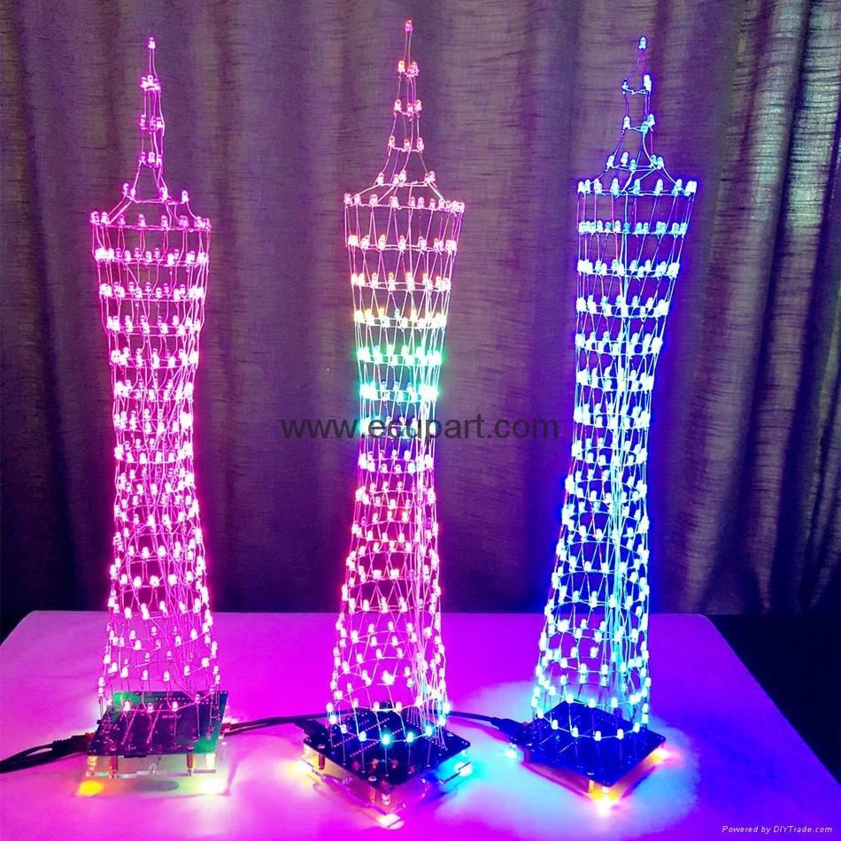 Audio LED music DIY DIY LED Audio Spectrum Style Canton Tower