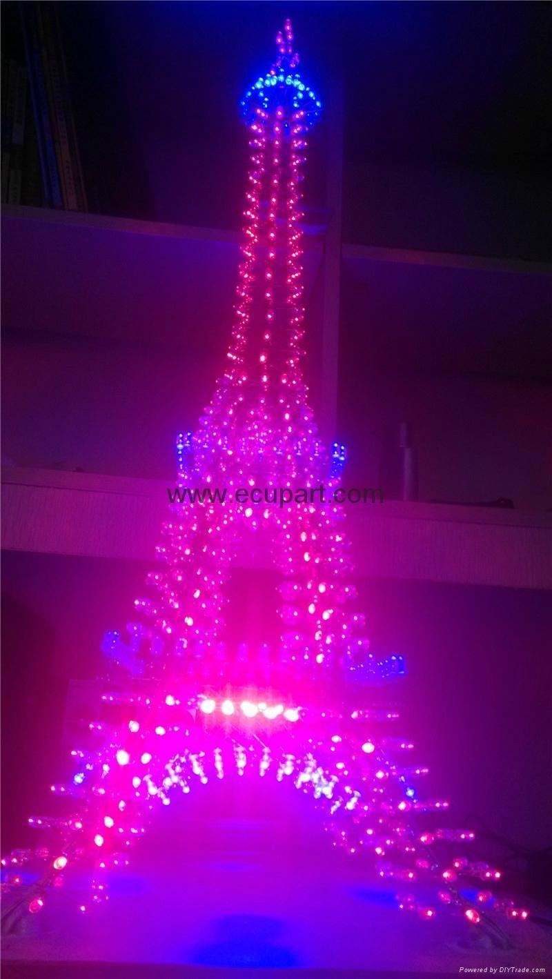 Eiffel Tower La Tour Eiffel Tower Bridge DIY World famous architecture Light Cube L3D CUBE