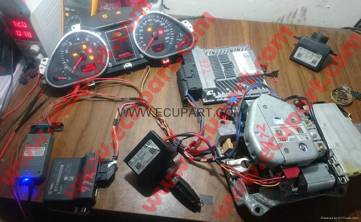 05-13年 奥迪方向盘锁马达 A6L A4L Q7 C6 J518 奥迪方向盘锁电机 3