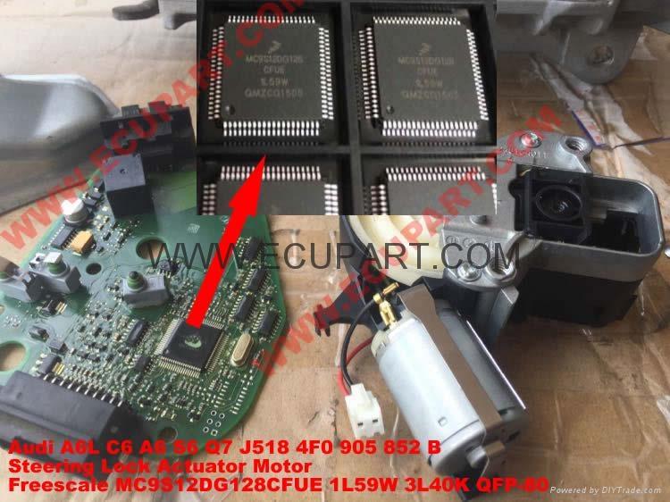 A6L C6 A6 S6 Q7 J518 MC9S12DG128CFUE 1L59W 奧迪A6L轉向柱電腦J518芯片 1