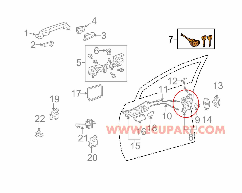 豐田車門鎖電機 Lexus RX Lexus SUV Toyota Harrier車門鎖馬達 3