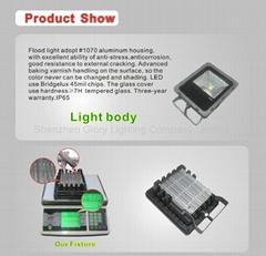 Ultra bright 10W high power LED floodlight for garden lighting