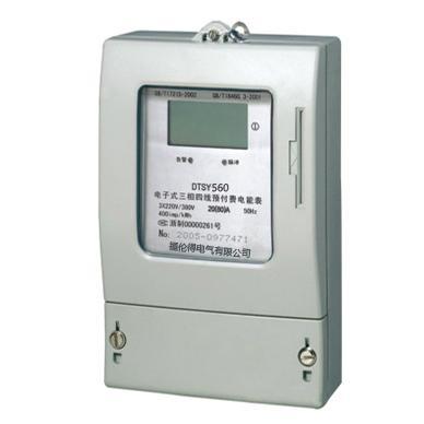 長江牌DTSY8666三相插卡式預付費電度表 1