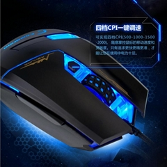 High Dpi Wired Sports Laser Gaming Mouse for Games