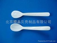 廠家直銷供應各種尺寸,和造型的魚子醬貝殼勺100 件起訂