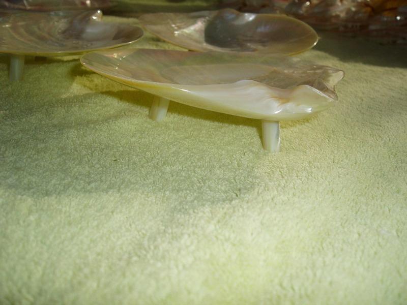 白色珠母貝殼碟 4