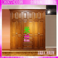 珠海实木衣柜工厂订做橡木鞋柜白蜡木电视厅柜
