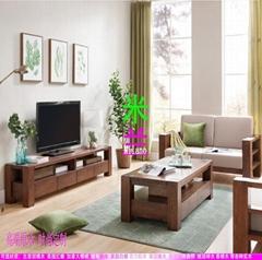 客厅家具实木沙发