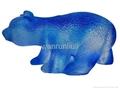 古法琉璃工艺品--琉璃站熊